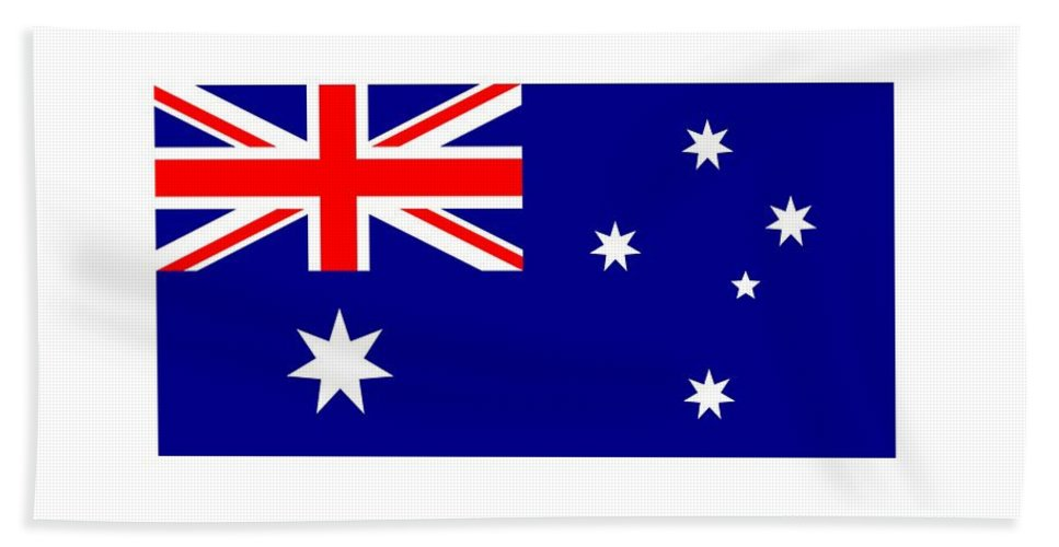Banner Hand Towel featuring the digital art Australia Flag by Frederick Holiday