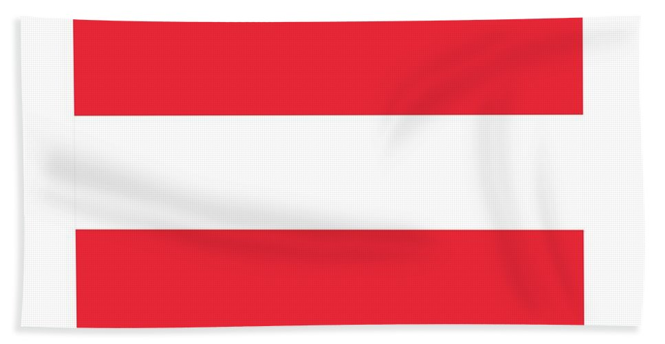Banner Hand Towel featuring the digital art Austria Flag by Frederick Holiday