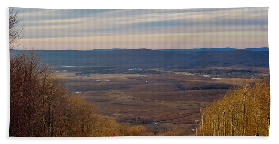 Beautiful Bath Sheet featuring the photograph Beautiful Winter Landscape At Timberline West Virginia by Alex Grichenko