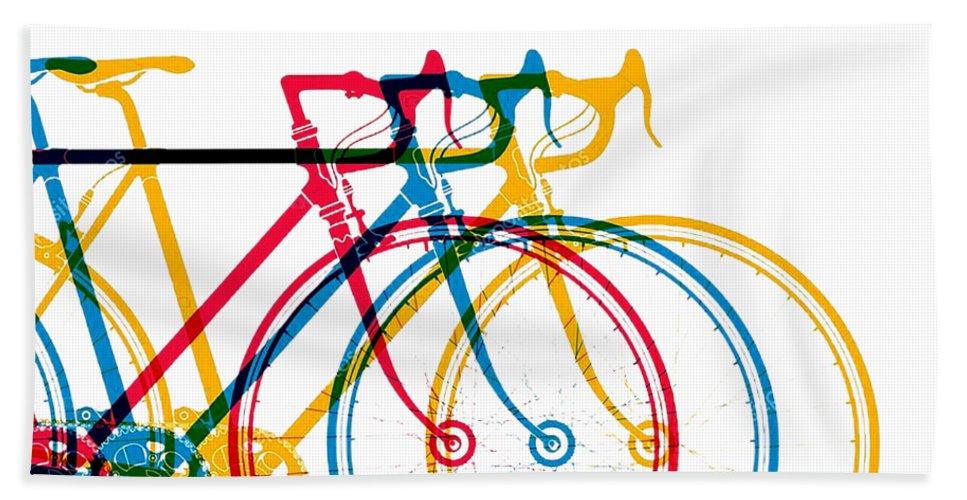 Bike Hand Towel featuring the digital art Bike Art by Lupita Mastara