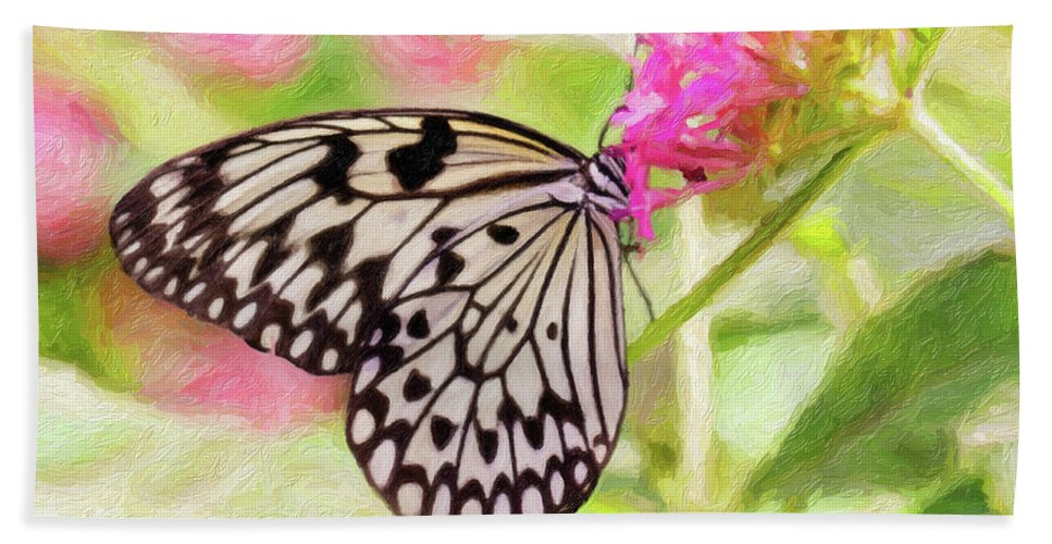 Nature Hand Towel featuring the photograph Butterfly by Sue Collura