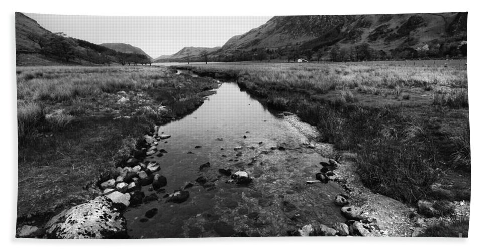 Buttermere Hand Towel featuring the photograph Buttermere by Smart Aviation