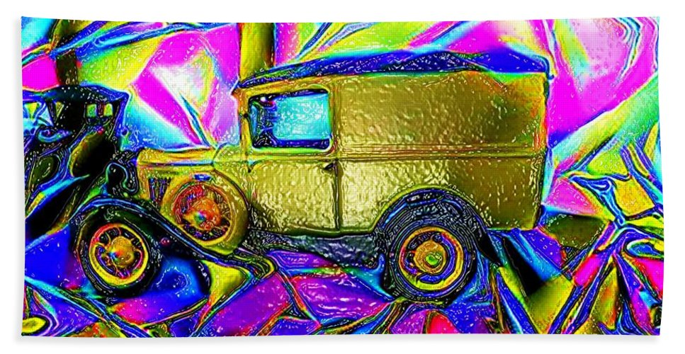 Vivid Color Therapeutic Relief Image Bath Sheet featuring the digital art Cards by John P Earls