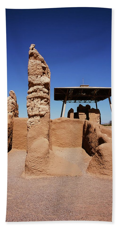 Abandoned Hand Towel featuring the photograph Casa Grande Ruins by Paul Moore