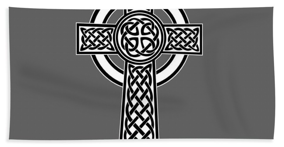 Rainbow Hand Towel featuring the digital art Celtic Cross by Frederick Holiday