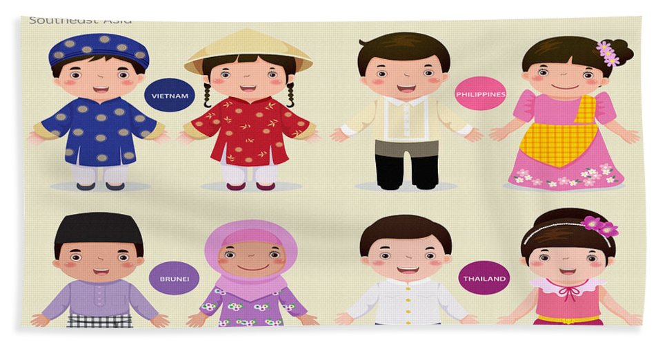 Home Art & Collectibles Bath Sheet featuring the digital art Children Of The Word by Don Kuing