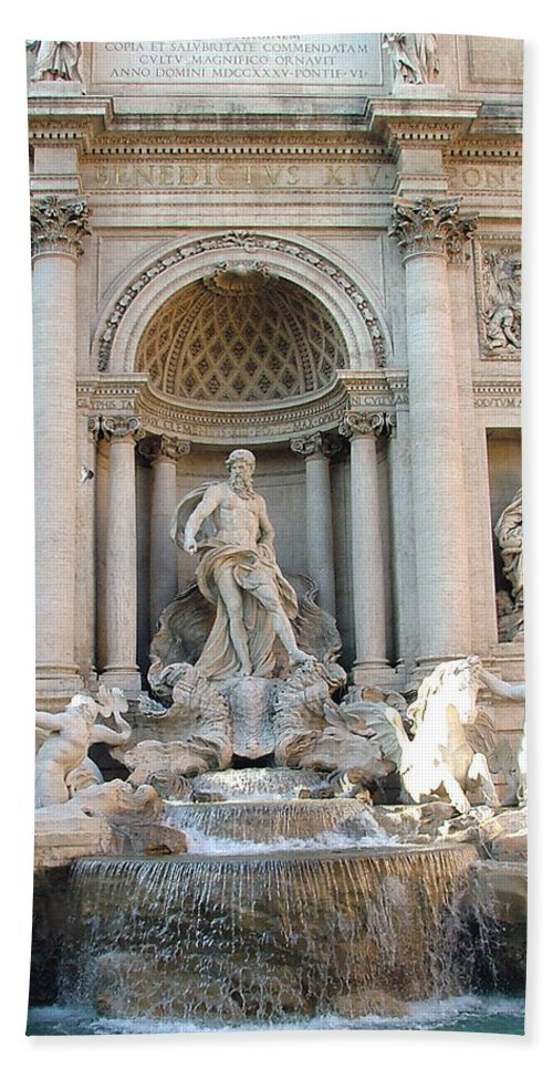 Trevi Hand Towel featuring the photograph 3 Coins In A Fountain by Mindy Newman