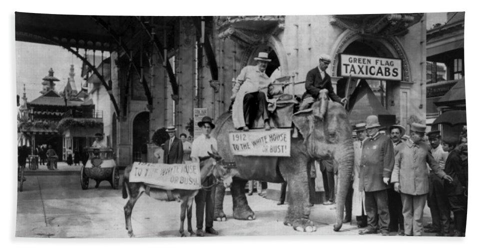 1911 Bath Sheet featuring the photograph Coney Island: Luna Park by Granger