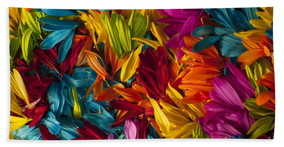 Abstract Hand Towel featuring the photograph Daisy Petals Abstracts by Jim Corwin