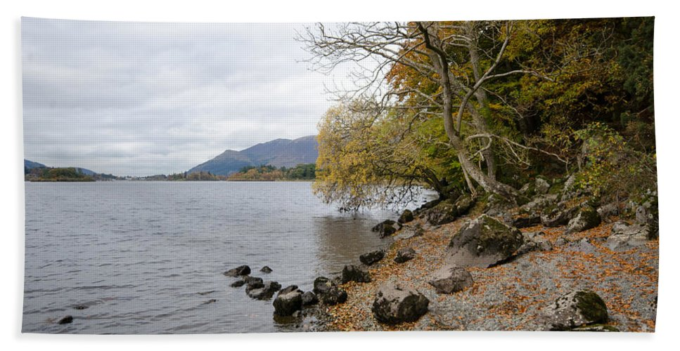 Lake Hand Towel featuring the photograph Derwentwater by Smart Aviation