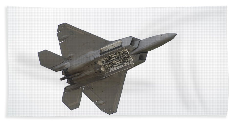 Airplane Hand Towel featuring the photograph F-22 Raptor by Sebastian Musial