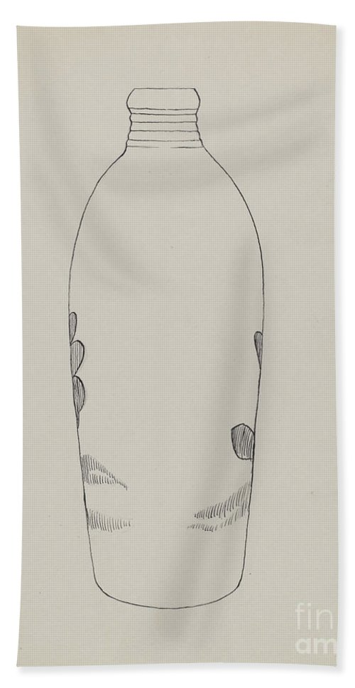 Hand Towel featuring the drawing Flask by John Tarantino