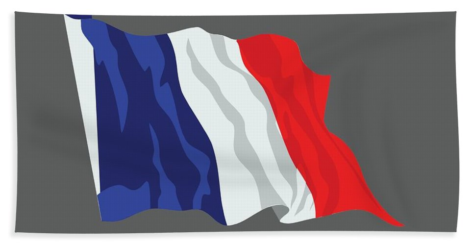 Flag Hand Towel featuring the digital art France Flag by Frederick Holiday
