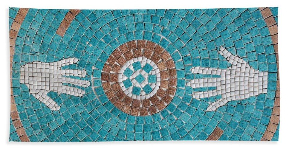 Mosaic Bath Sheet featuring the photograph Hans Mosaic by Rob Hans