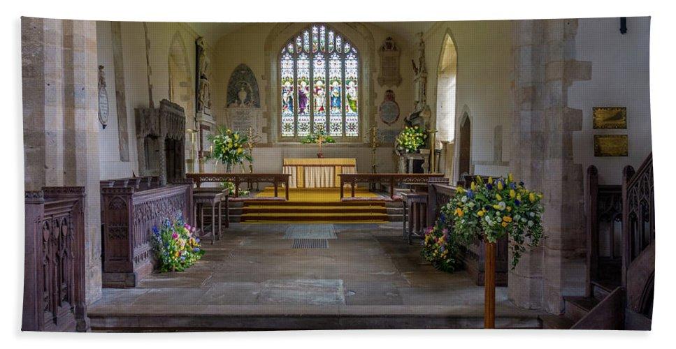 Anglican Bath Sheet featuring the photograph Holy Cross Church, Ramsbury by Mark Llewellyn