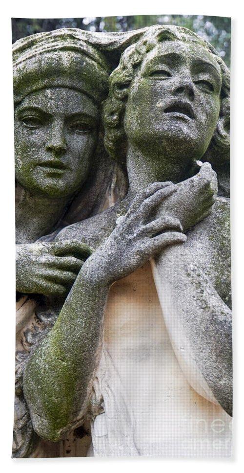 Kerepesi Hand Towel featuring the photograph Kerepesi Cemetery, Budapest by Vladi Alon