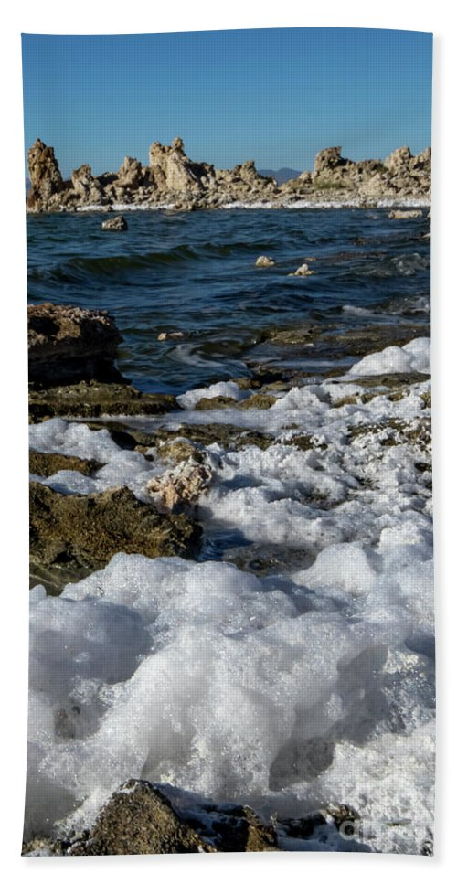395 Hand Towel featuring the photograph Lakefront At Mono Lake, Eastern Sierra, California, Usa by Eiko Tsuchiya