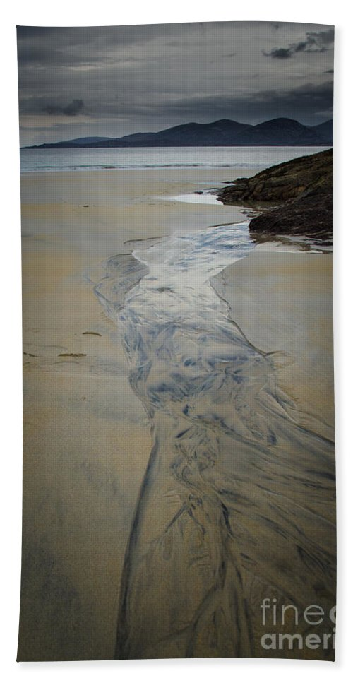 Isle Of Harris Hand Towel featuring the photograph Luskentyre, Isle Of Harris by Smart Aviation