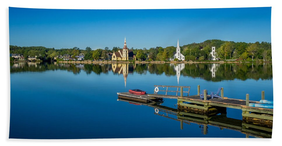 Canada Bath Sheet featuring the photograph Mahone Bay by Mark Llewellyn