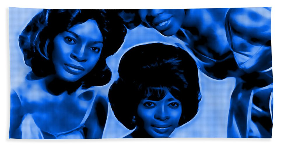 Martha And The Vandellas Bath Sheet featuring the mixed media Martha And The Vandellas Collection by Marvin Blaine