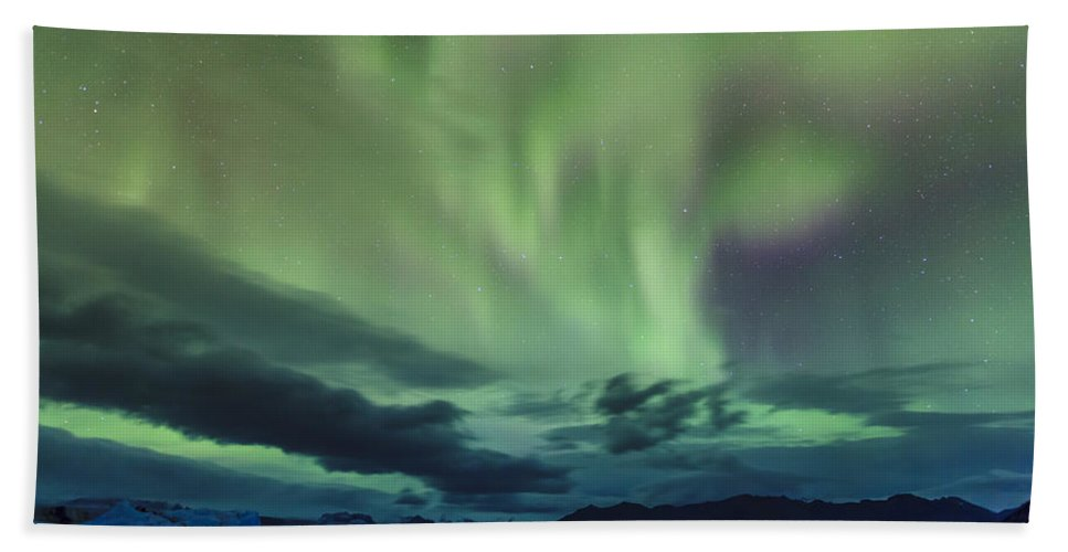 Europe Bath Sheet featuring the photograph Northern Lights by Alexey Stiop