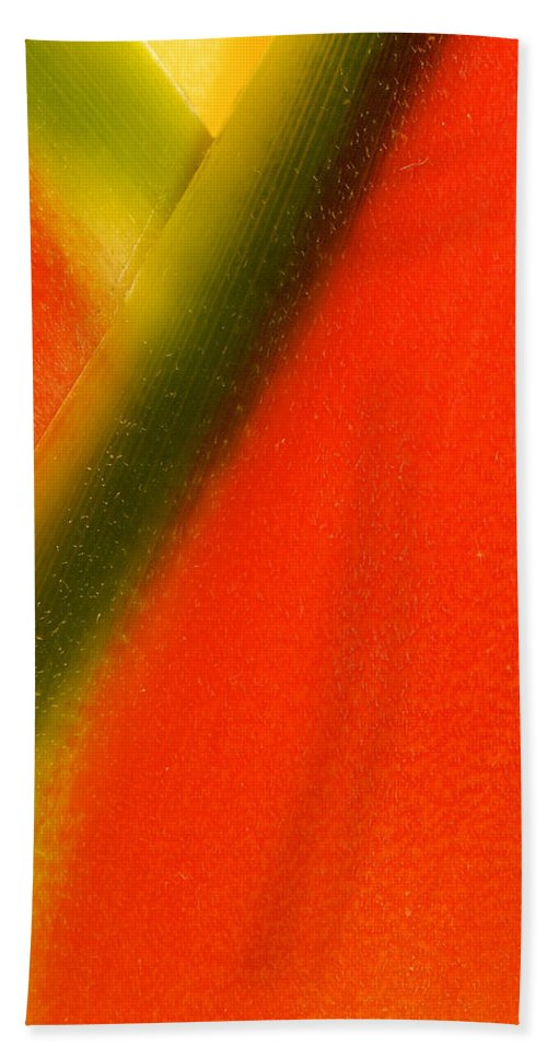 Flowers Hand Towel featuring the photograph Photograph Of A Lobster Claws Heliconia by Perla Copernik