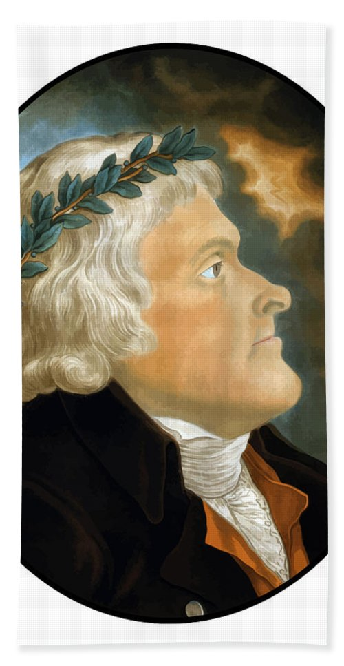 Thomas Jefferson Bath Sheet featuring the painting President Thomas Jefferson - Two by War Is Hell Store