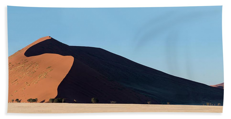 Photography Bath Sheet featuring the photograph Red Dunes, Sossusvlei, Namib Desert by Panoramic Images
