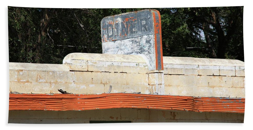 66 Bath Sheet featuring the photograph Route 66 - Glenrio Texas by Frank Romeo