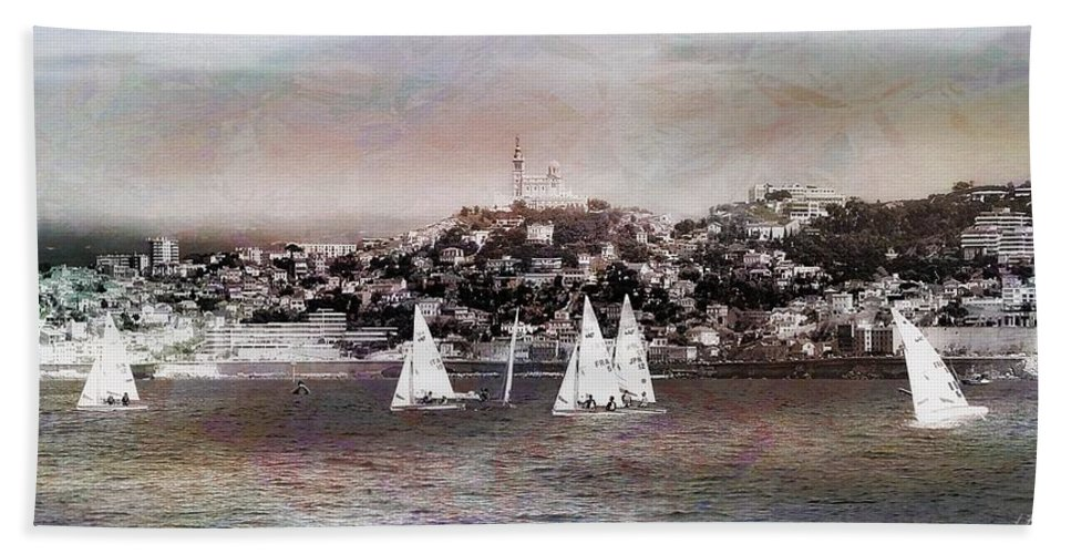 Nature Hand Towel featuring the photograph Sailing Boat by Jean Francois Gil