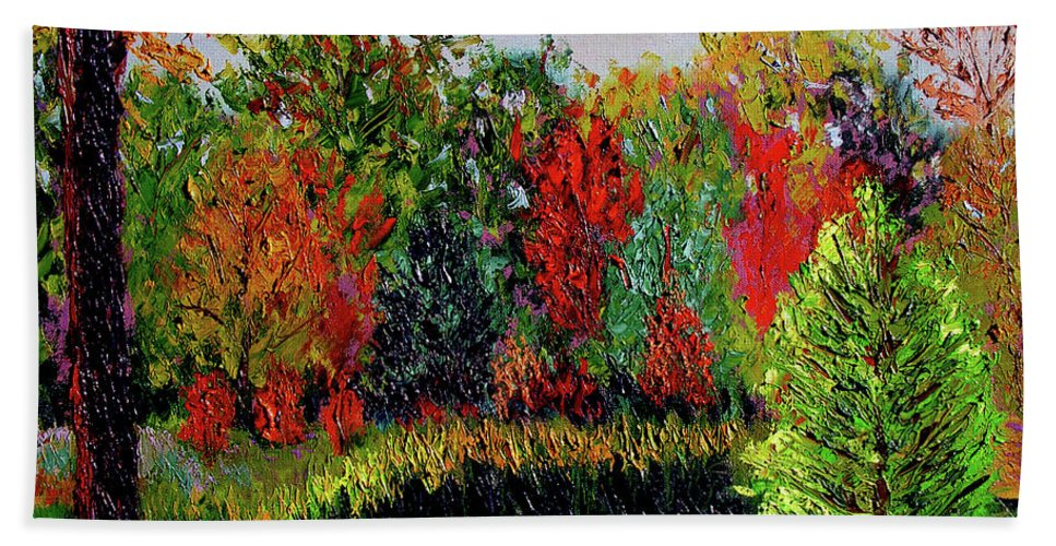 Plein Air Hand Towel featuring the painting Sewp 10 10 by Stan Hamilton