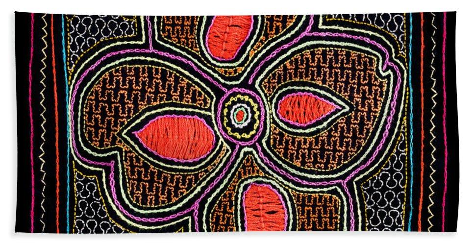 Shipibo Hand Towel featuring the photograph Shipibo Art by U Schade