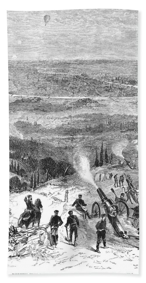 1870 Bath Sheet featuring the photograph Siege Of Paris, 1870 by Granger