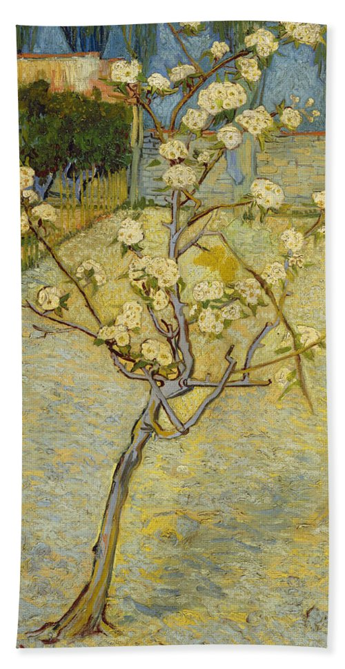 Dutch Hand Towel featuring the painting Small Pear Tree In Blossom by Vincent van Gogh