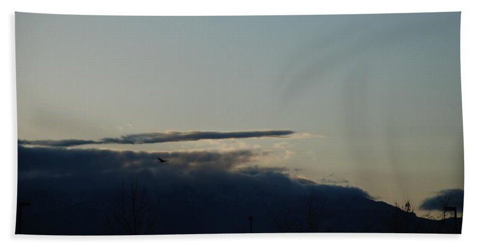 Sunrise Bath Sheet featuring the photograph Sunrise Over The Sandias by Rob Hans