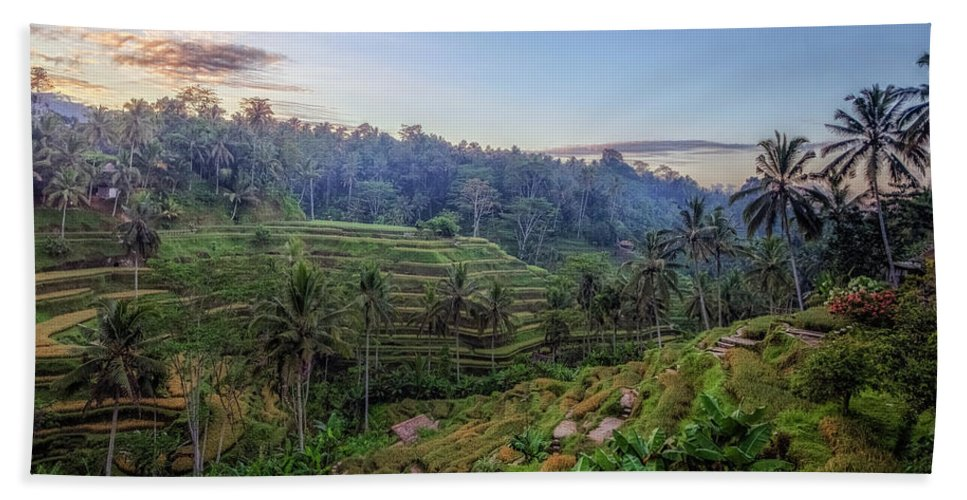 Tegalalang Bath Sheet featuring the photograph Tegalalang - Bali by Joana Kruse