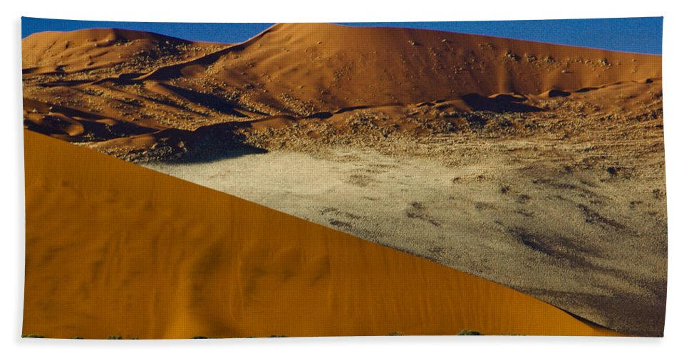 Africa Hand Towel featuring the photograph The Dunes Of Sossusvlei by Michele Burgess