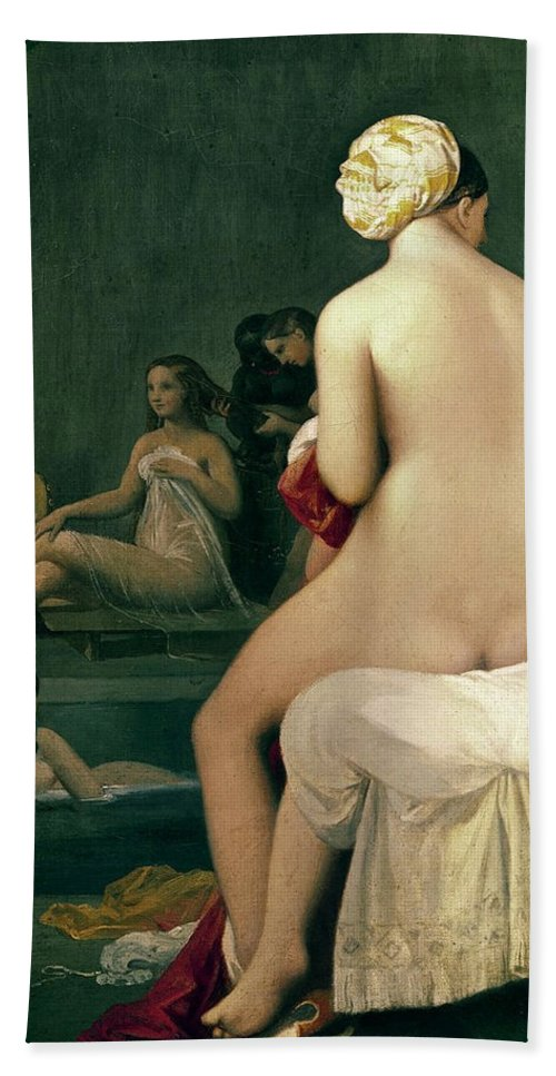 Bathers Hand Towel featuring the painting The Small Bather by Jean-Auguste-Dominique Ingres