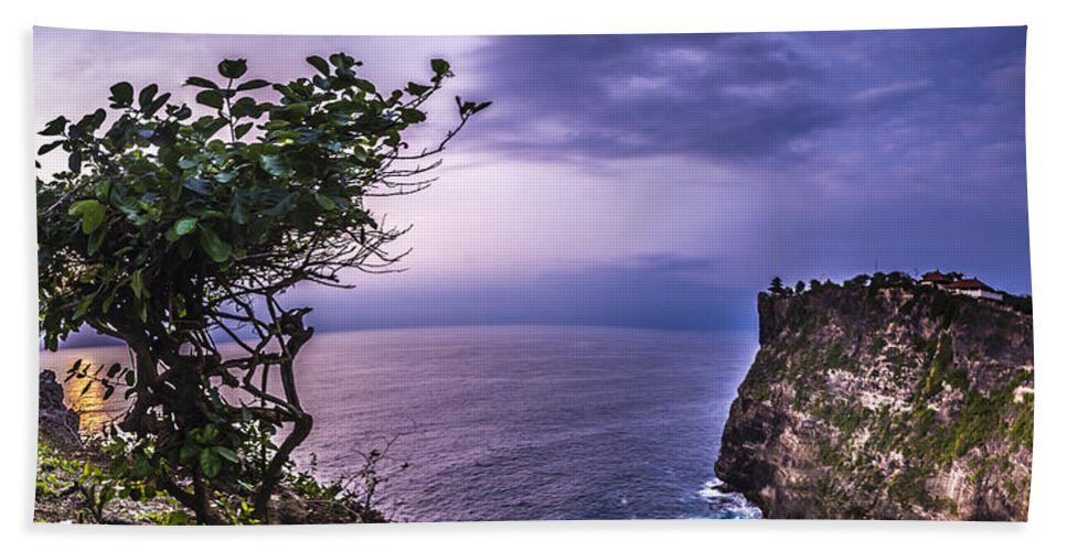 Architecture Hand Towel featuring the photograph Uluwatu Temple by Jijo George