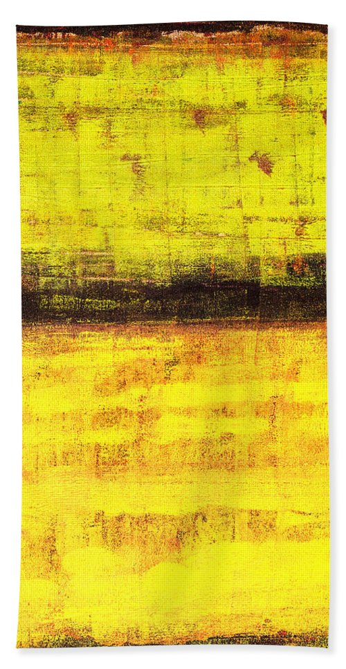 Rothko Hand Towel featuring the painting Untitled No. 1 by Julie Niemela