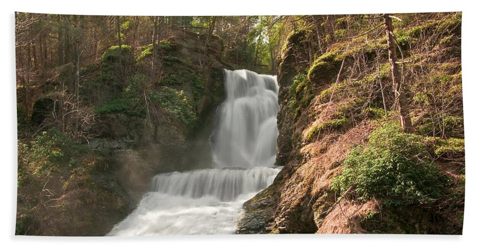 Waterfall Hand Towel featuring the photograph Waterfall by Svetlana Sewell
