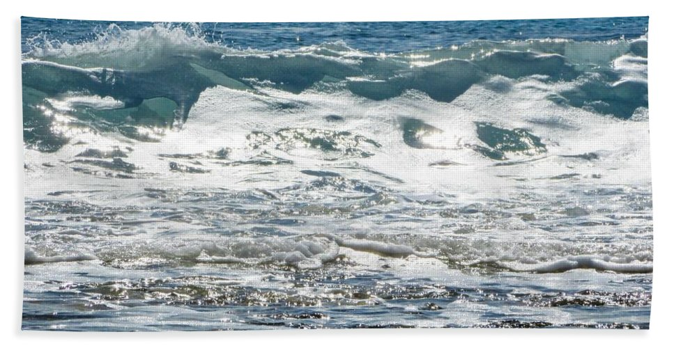 Wave Hand Towel featuring the photograph Waves by FL collection
