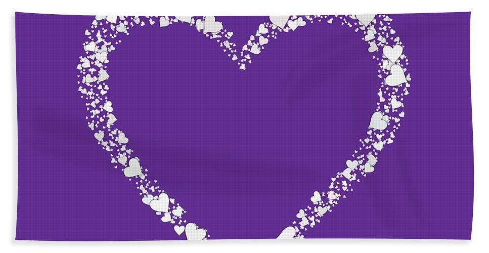 Heart Hand Towel featuring the digital art Love Heart Valentine Shape by Miroslav Nemecek