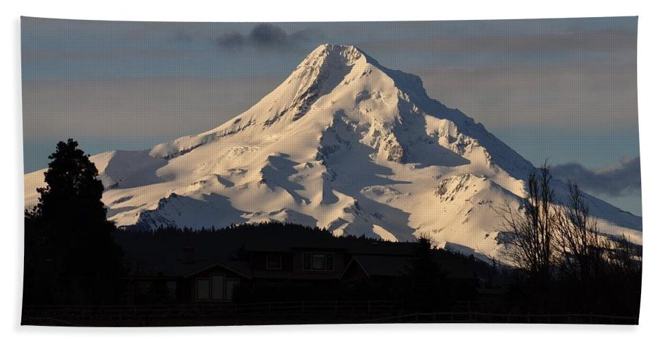 Mountain Hand Towel featuring the photograph Mountain by FL collection
