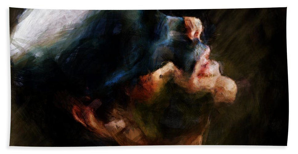 Man Bath Sheet featuring the painting Untitled by Adam Vance