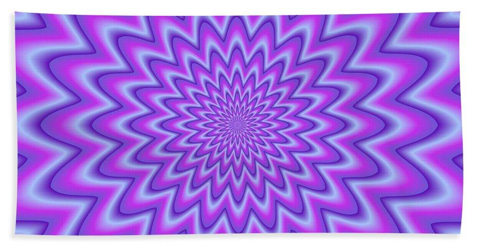 Psycho Hand Towel featuring the photograph Psycho Hypno Floral Pattern by Miroslav Nemecek