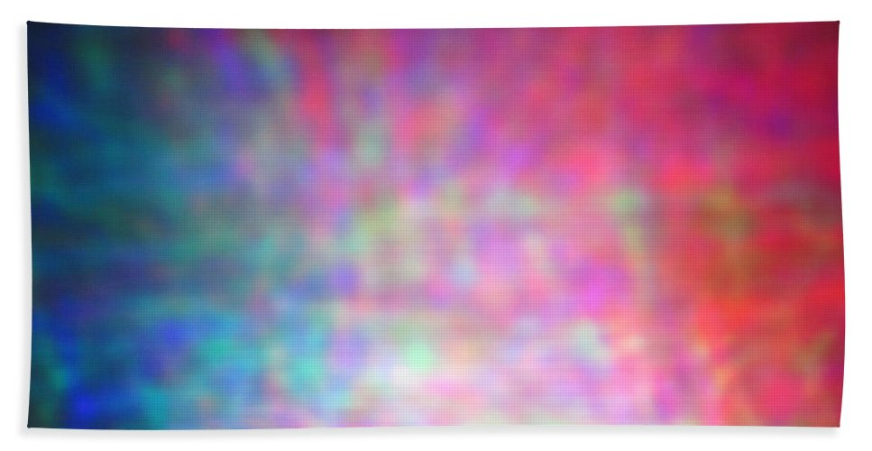 Abstract. Hand Towel featuring the photograph 4-19-18#1 by Mark Mulier