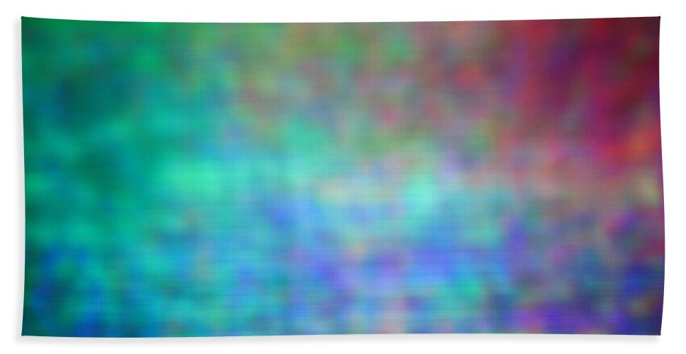 Abstract. Hand Towel featuring the photograph 4-19-18#13 by Mark Mulier
