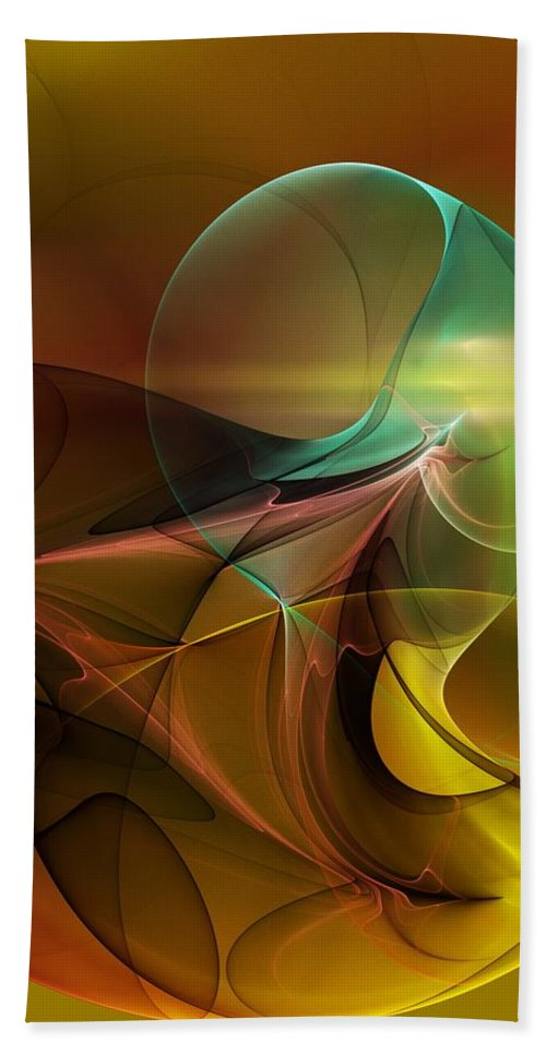 Digital Painting Hand Towel featuring the digital art 4-3-10aa by David Lane