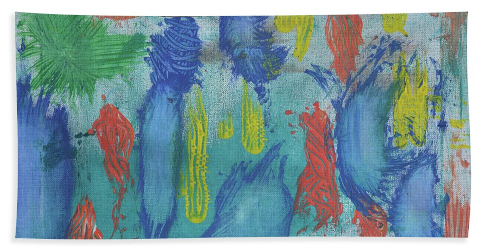 Abstract Bath Sheet featuring the painting Abstract by Jason Whitehead